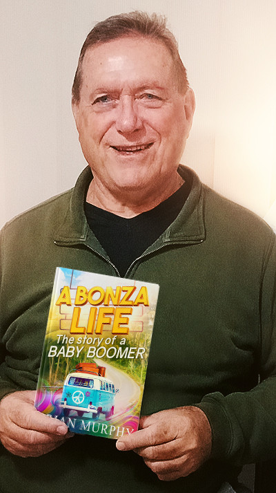 Author Brian Murphy and his book BONZA Life: The Story of a Baby Boomer