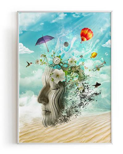Poster & Art Print Meditation by Donika Mishineva. You can buy it on Society6.