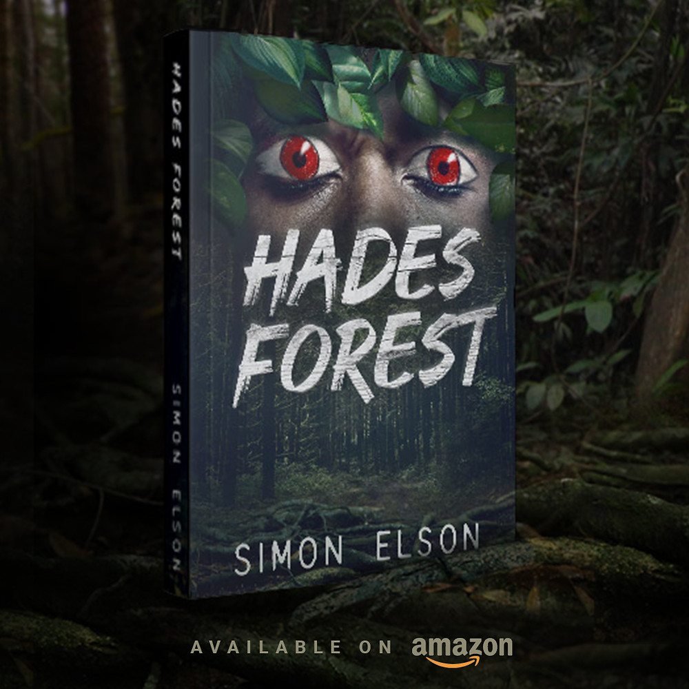 A book cover design of Hadest Forest by Simon Elson. Graphic artist - Donika Mishineva