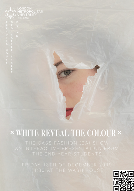White Reveal The Colour Runway Poster