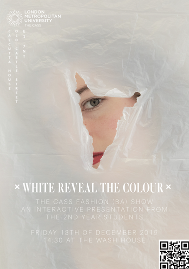 White Reveal the Colour poster
