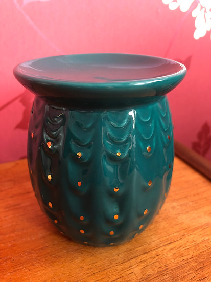 Peacock Wax Burner with a pack of Soy Wax Melts