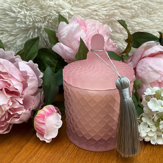 Pink Geo Candle