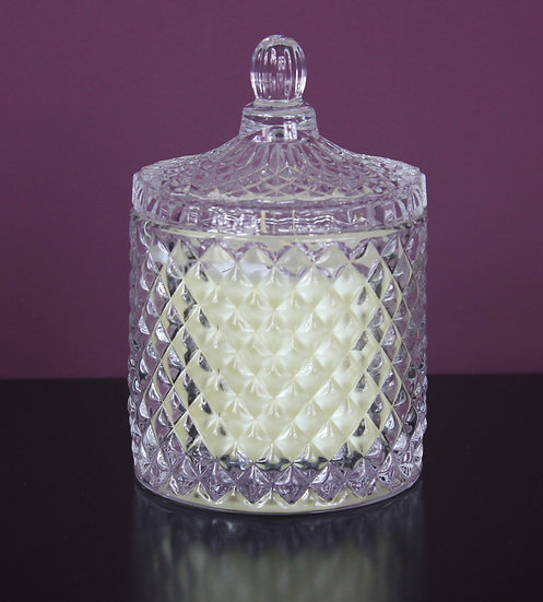 Clear or Pearlescent Geo Soy Wax Candle