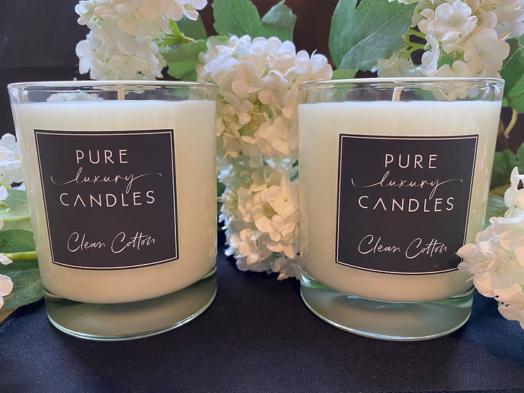 Clear Soy Wax Wood Wick Candle