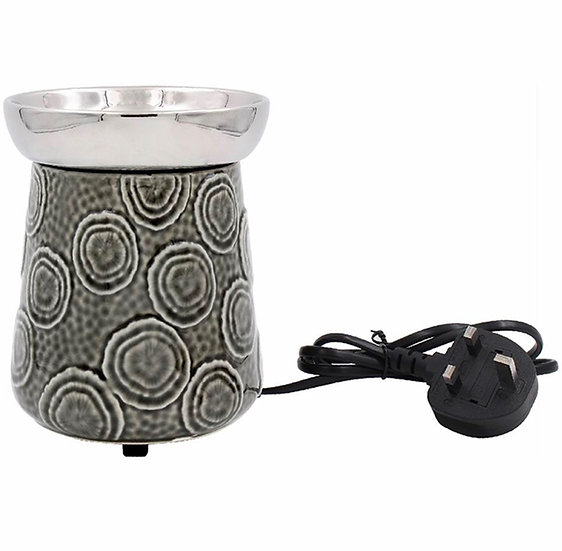 Electric Wax Burner Grey and Silver