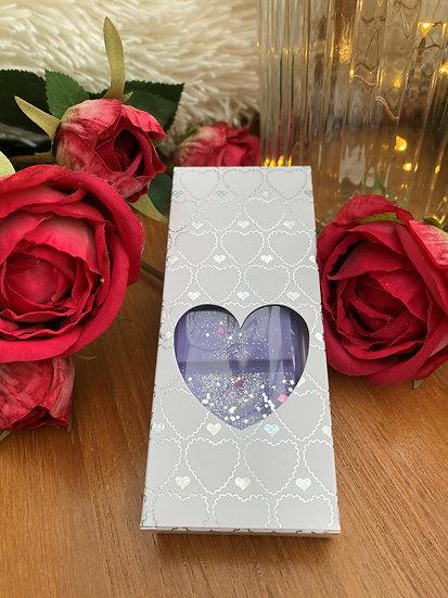 Wax Melt Snap Bar in a Silver Heart Gift Box