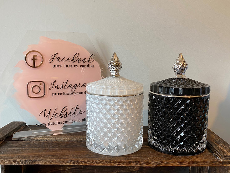 Luxury Royal Geo Soy Wax Candle