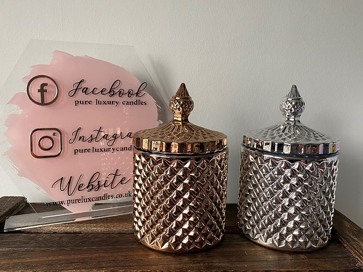 Rose Gold Geo Candle