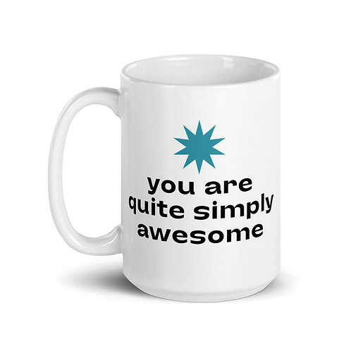 #AWESOME - 15 oz white mug copy