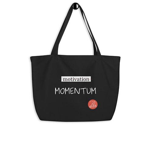 MOMENTUM - large organic tote bag {black}