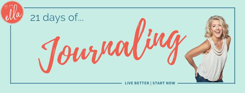 21 days of Journaling