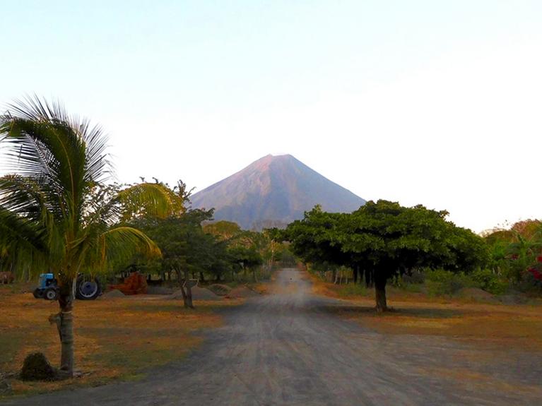 ON A VOLCANIC ISLAND IN NICARAGUA