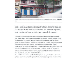 LE PARISIEN : Une seconde jeunesse pour le Père Lamotte à Asnières