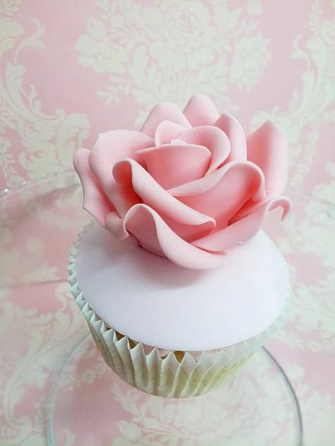 Cupcake singlerose www.andreagorigoitia.com