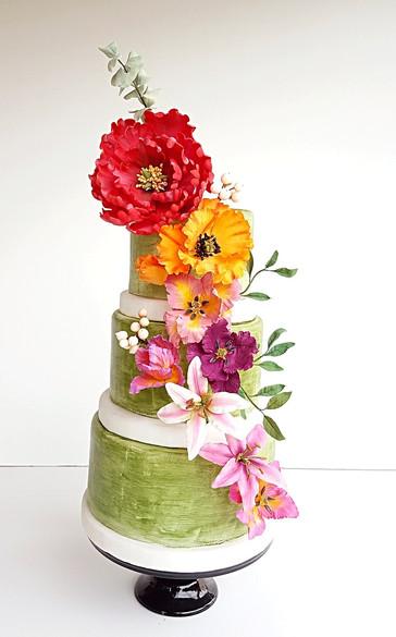 Torta Green Flowers