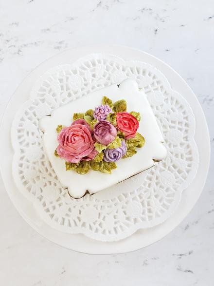 flores en glasereal