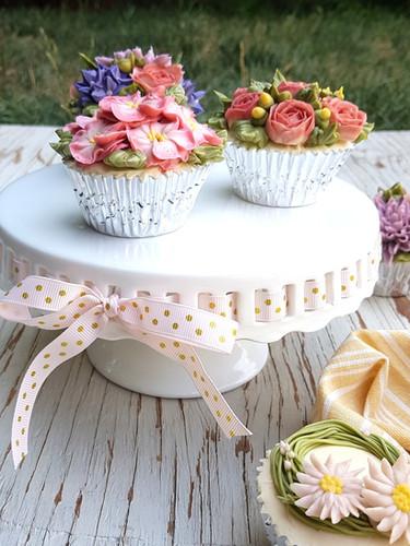 Cupcakes Buttercream Flowers