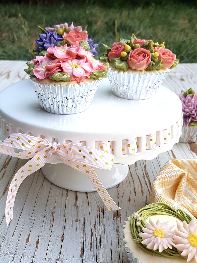 Cupcakes Buttercream Flowers