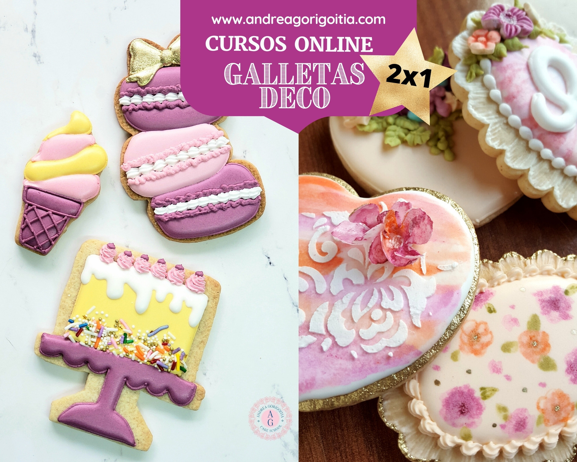 2x1 curso Galletas Decoradas
