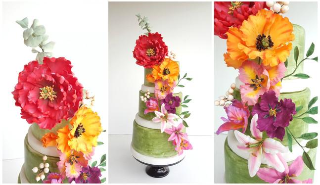 Torta Green Flowers 2