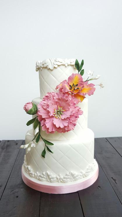 Torta Peonía y Tulipán