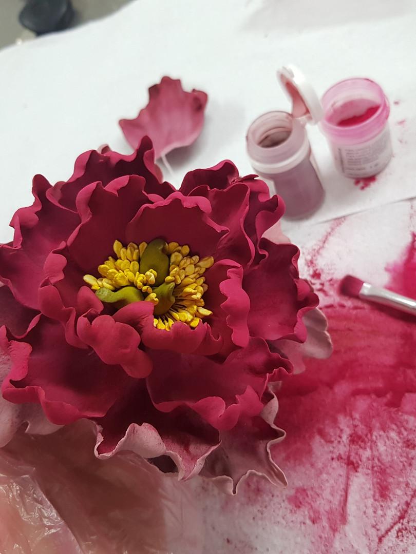 Curso online Flores pasta goma intermedio
