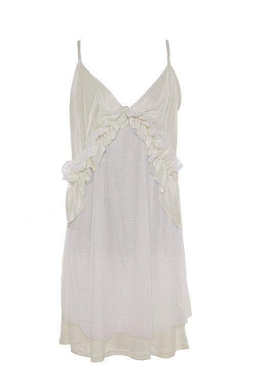 Slip dress weiß