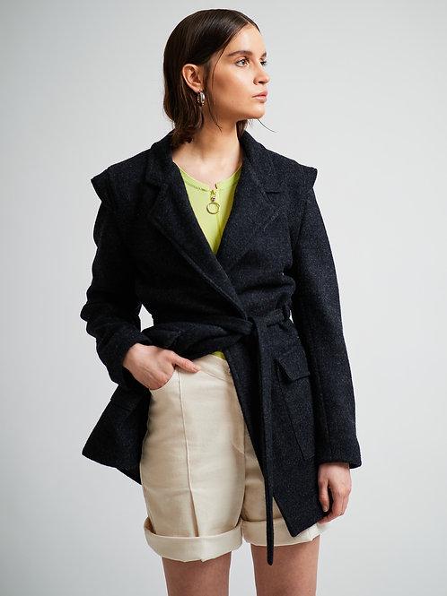 Kurzmantel aus Wolle