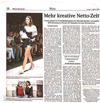 Wiener Zeitung  Oktober 2016