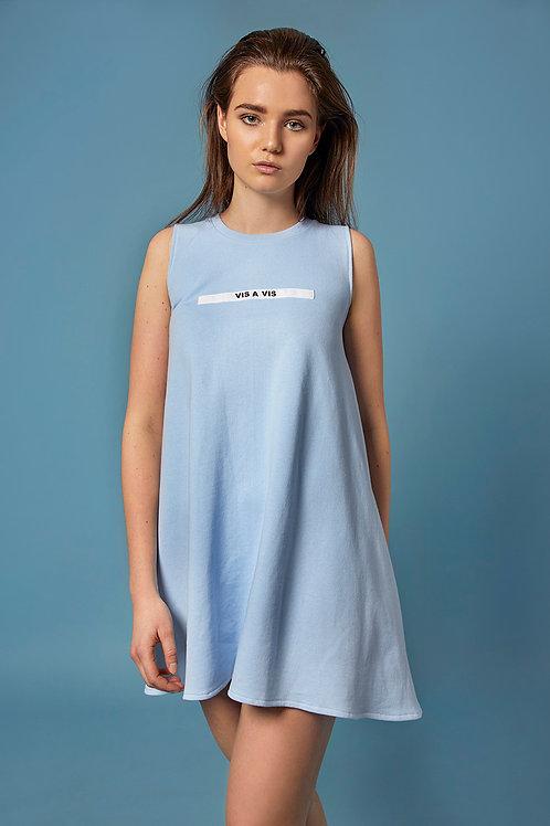 Jersey Kleid hellblau