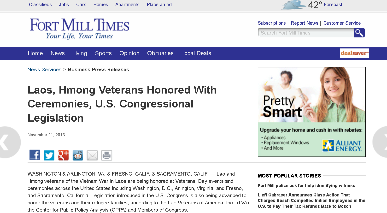 Laos, Hmong Veterans Honored With