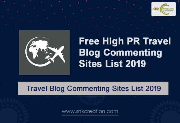 Free Travel blog commenting sites list 2019