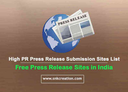 Free Press Release Sites | High PR Press Release Submission Sites List