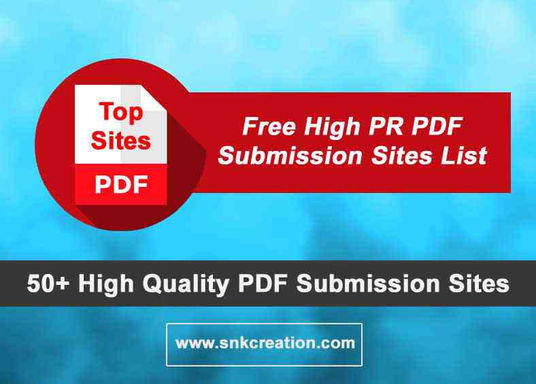 high pr pdf submission sites list, pdf sharing sites list for seo