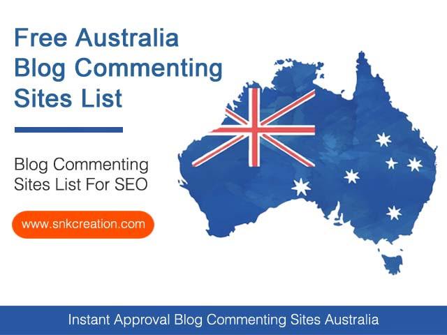 Blog Commenting Sites Australia | 100+ High DA Australia Blog Commenting Sites List 2020