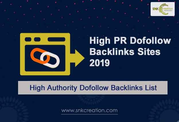 high authority backlinks list free 2019