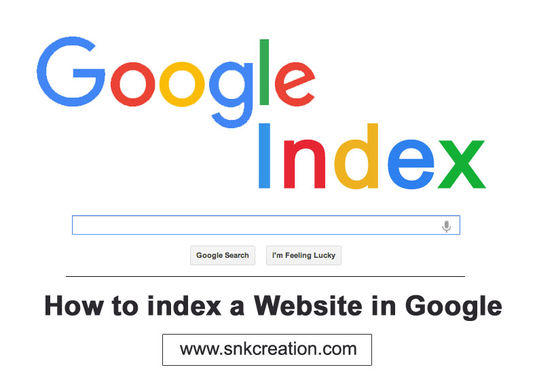 how to index a website and blog in google