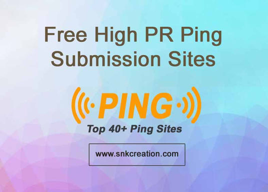 free high pr ping submission sites | ping your url free