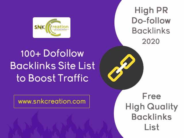 High PR Dofollow Backlinks Site List
