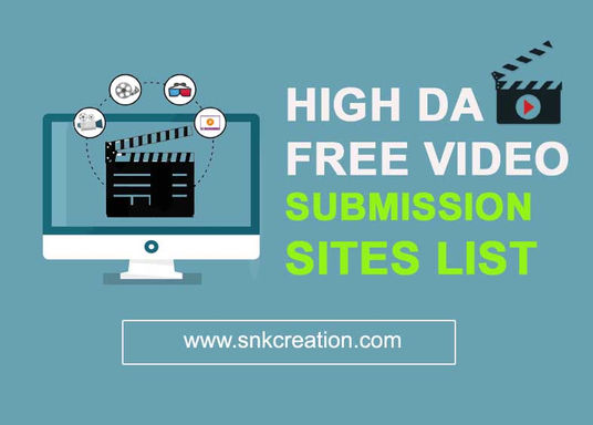 high DA Free Video Submission Sites List, video promotion sites list