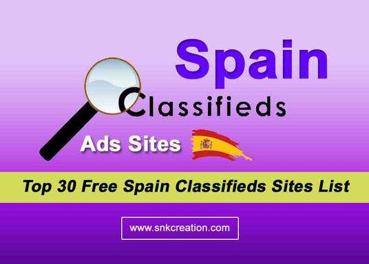 best free spain classifieds sites list, free classified ads in spain