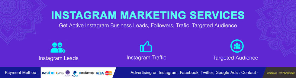 Cheap Instagram Marketing Packages India, Mumbai, Delhi, Chennai