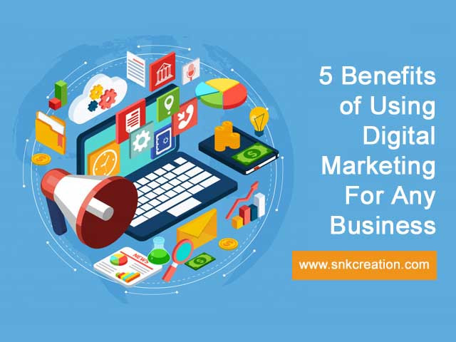 Here is Top 5 Benefits of Using Digital Marketing For Any Business which is useful for small and enormous business. Digital marketing agency enable you to make connecting with struggle using various sorts of rich media content. Check the 5 best advantage of using digital advertising services.