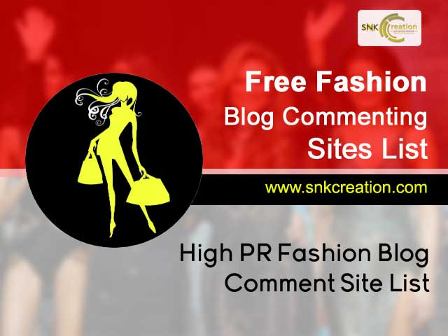 free fashion blog commenting sites list 2019