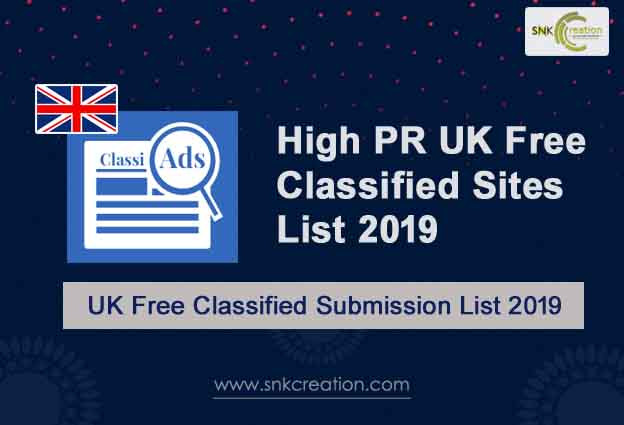 High PR UK Classified Submission Sites List 2019