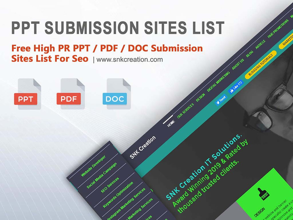 Free PPT Submission Sites List 2020 | High PR PDF Submission Sites List