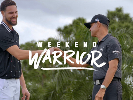 NBA SUPERSTAR KLAY THOMPSON TAKES HIS GOLF GAME TO THE NEXT LEVEL