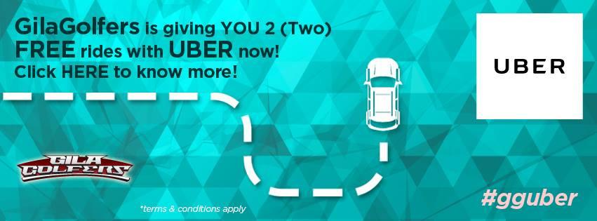 GilaGolfers uber promo
