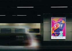 프라이드영화제 광고 목업